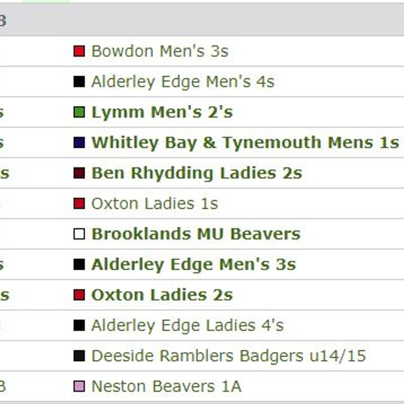 Fixtures this Weekend - Saturday 20th October