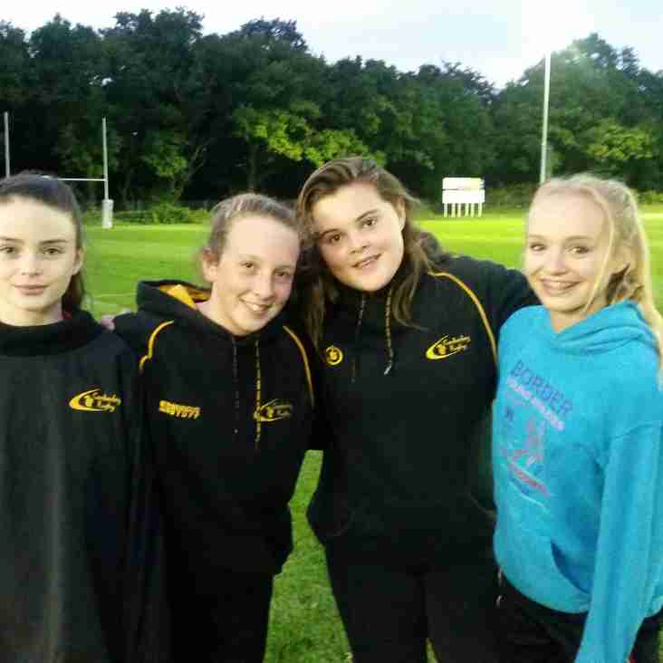 Surrey selection four of the u13 Girls
