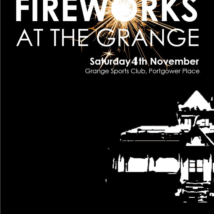 Grange Hockey Club Fireworks Night - Sat 4th Nov