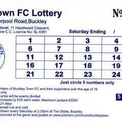 Buckley Town Lottery - Two winners