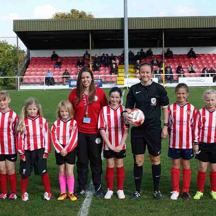 Buckley Town Juniors' Girls team Mascots for the day