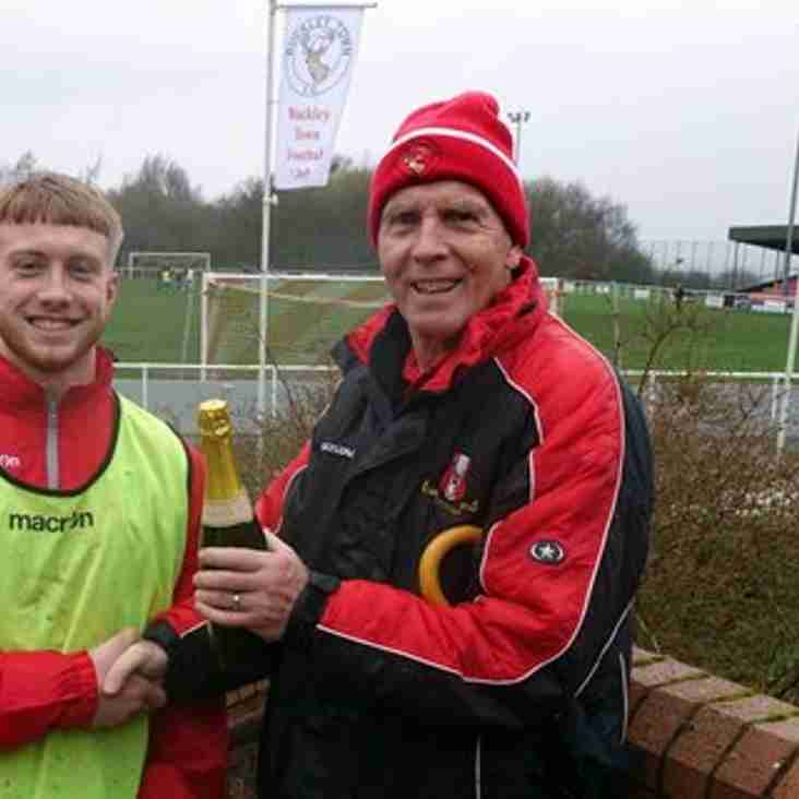 Jacob Evans wins Buckley Town's player of the month