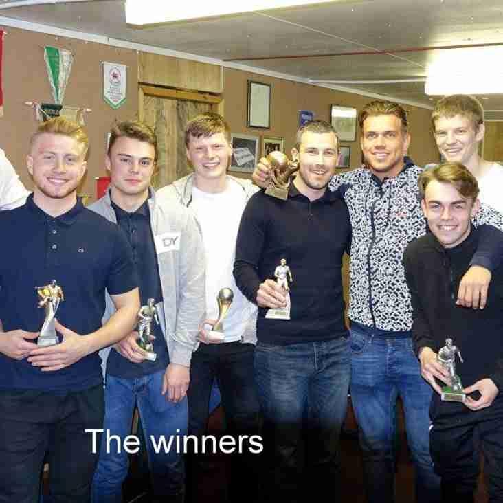 Buckley Town's end of season awards