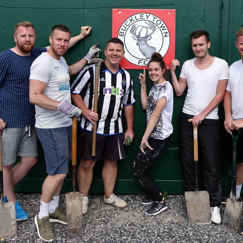 Lloyds Bank's volunteers invest their time supporting Buckley Town FC