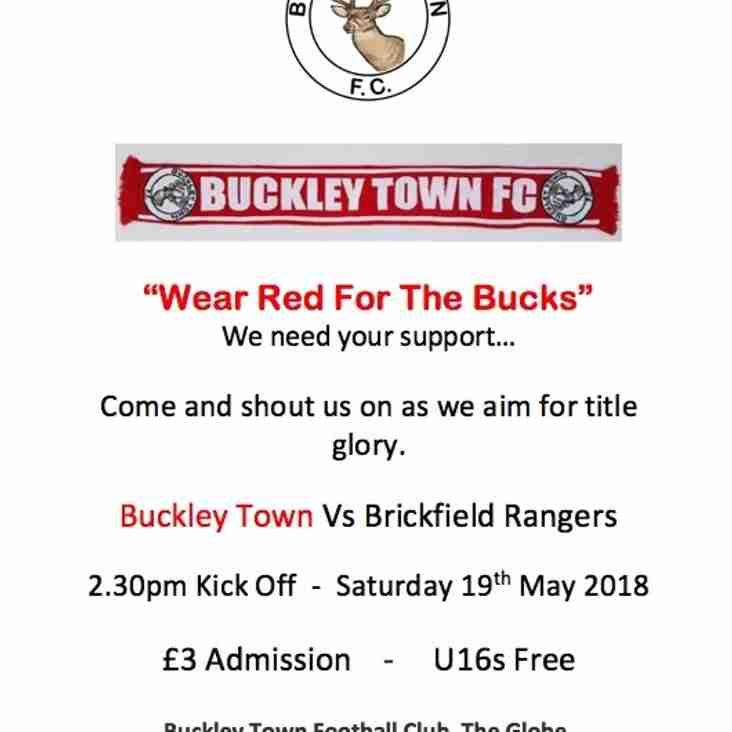 Wear Red for the Bucks