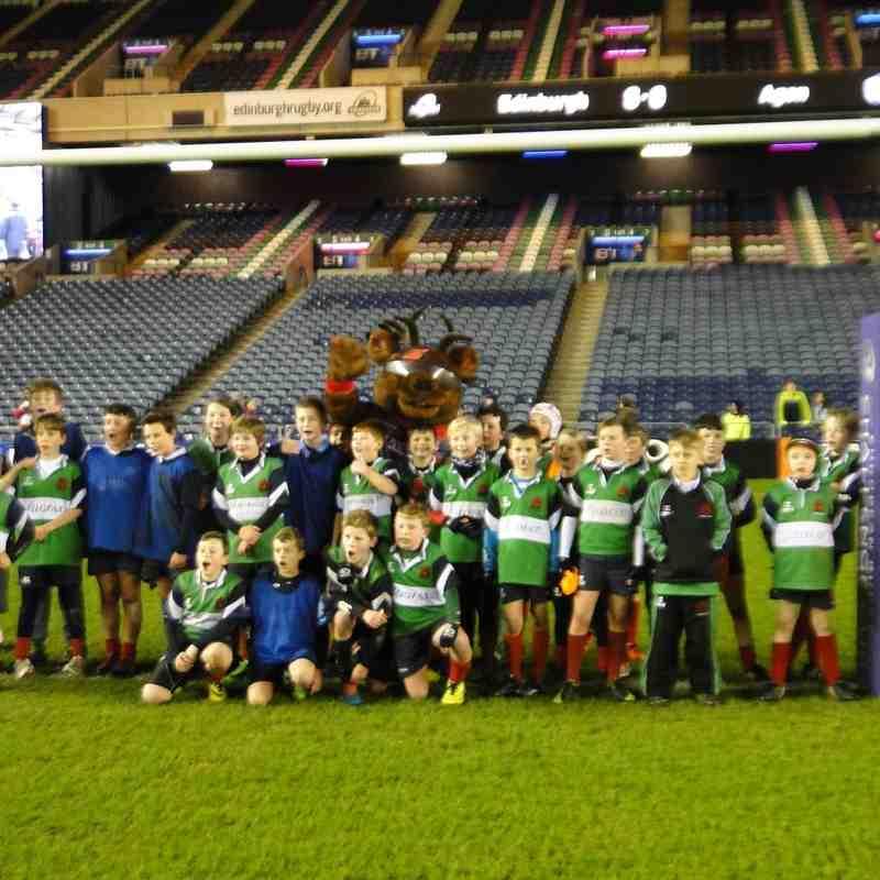 Minis at Edinburgh match 15-1-2016 v Agen