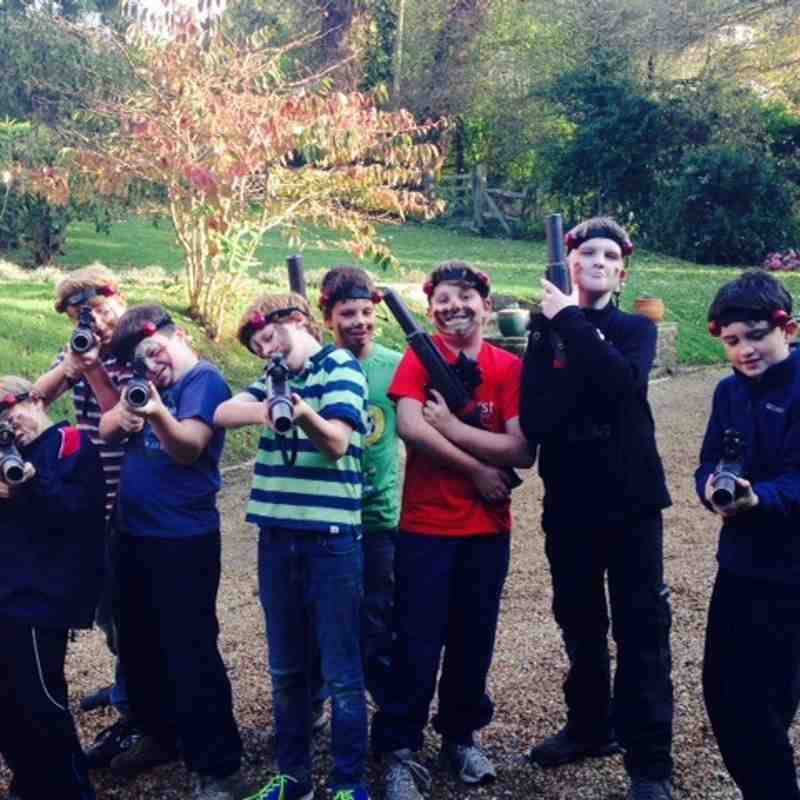 U11s laser games, team building
