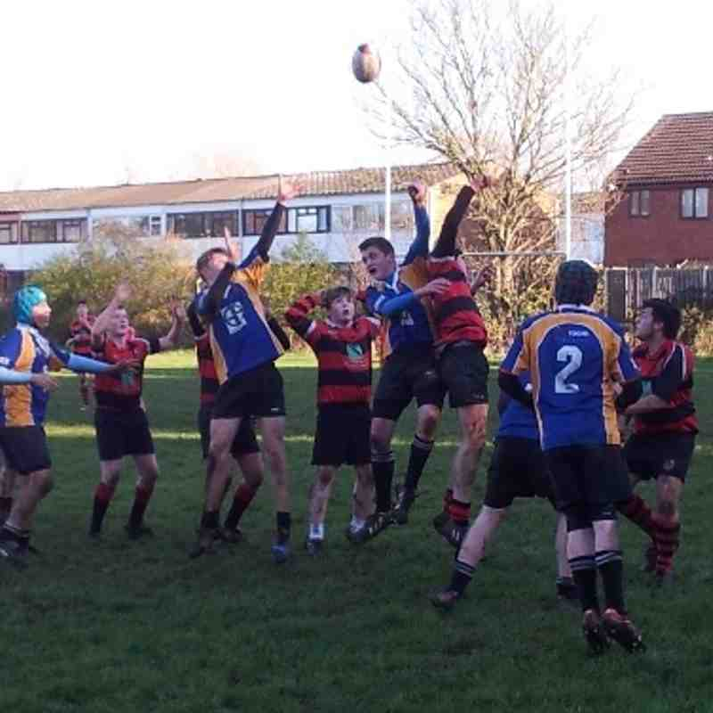 Under15s v Newbold on Avon 1st Dec 2013