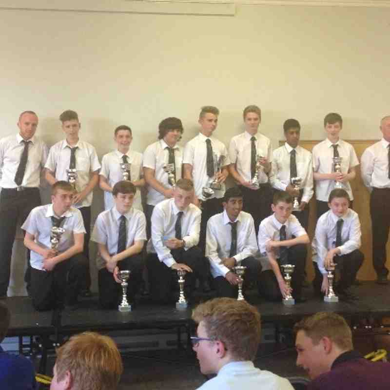 U15s league presentation photos