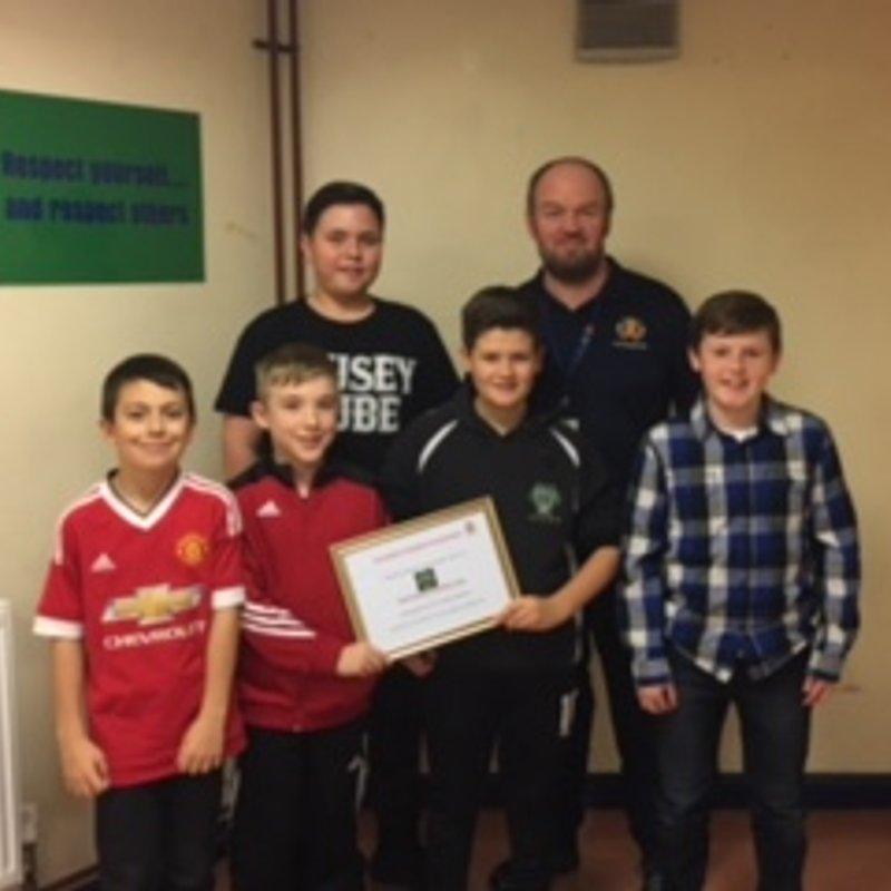 Genesis Youth Committee Receive Award....