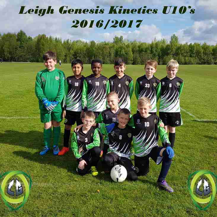 Leigh Genesis U10s Kinetics on the lookout for players..