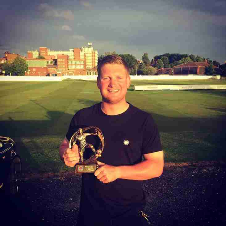 Player of the season for Genesis First Team Player Ste Yates...