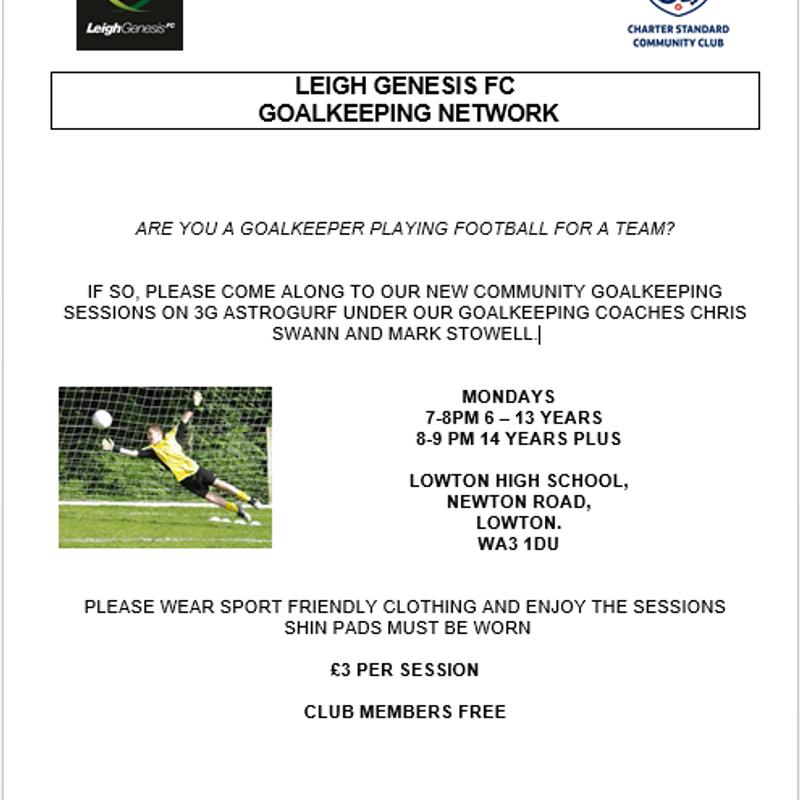 Genesis Goalkeeper Network Expanding...