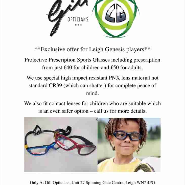 Exclusive Offer for All Leigh Genesis Players...