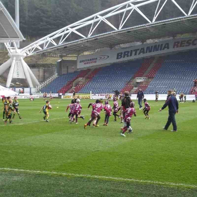 Thornhill Trojans U8s Curtain Raiser Huddersfield Giants VS Warrington