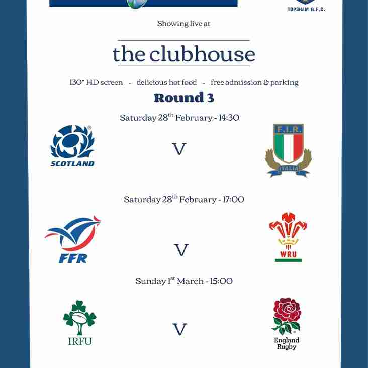 Round 3 RBS 6 Nations live @ 'the clubhouse'