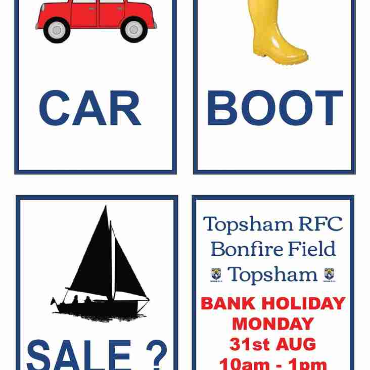 CAR BOOT SALE @ Topsham RFC