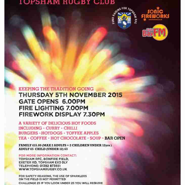 Bonfire Night @ Topsham RFC