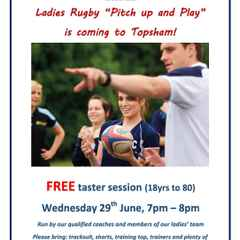 Pitch Up & Play - Ladies Rugby - 29th June
