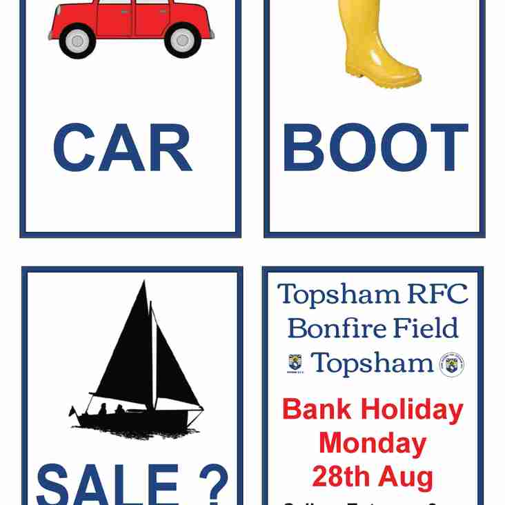 Car Boot Sale - Bank Holiday Monday