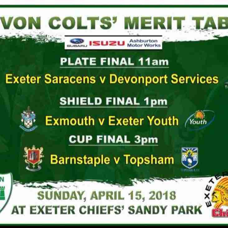 Devon Colts Final - Sandy Park - Sunday 15th April KO 15:00