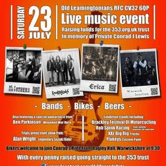 Conrad's Festival 23rd July - all welcome