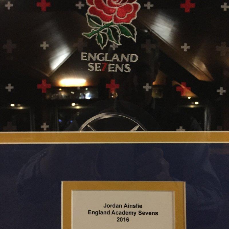 Jordan Ainslie of OL's plays for England 7's Academy