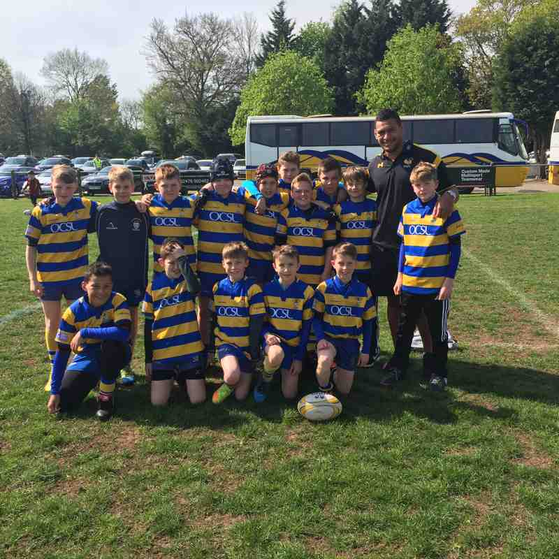 U12's winners at WASPS with Nathan Hughes