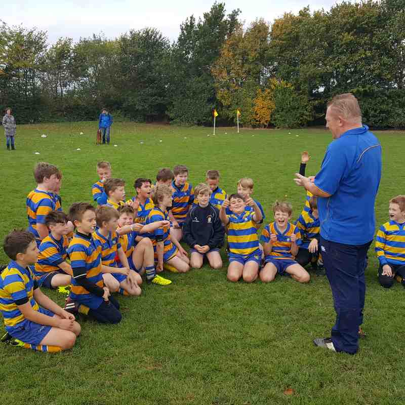 U11's enjoying their post match analysis :  )