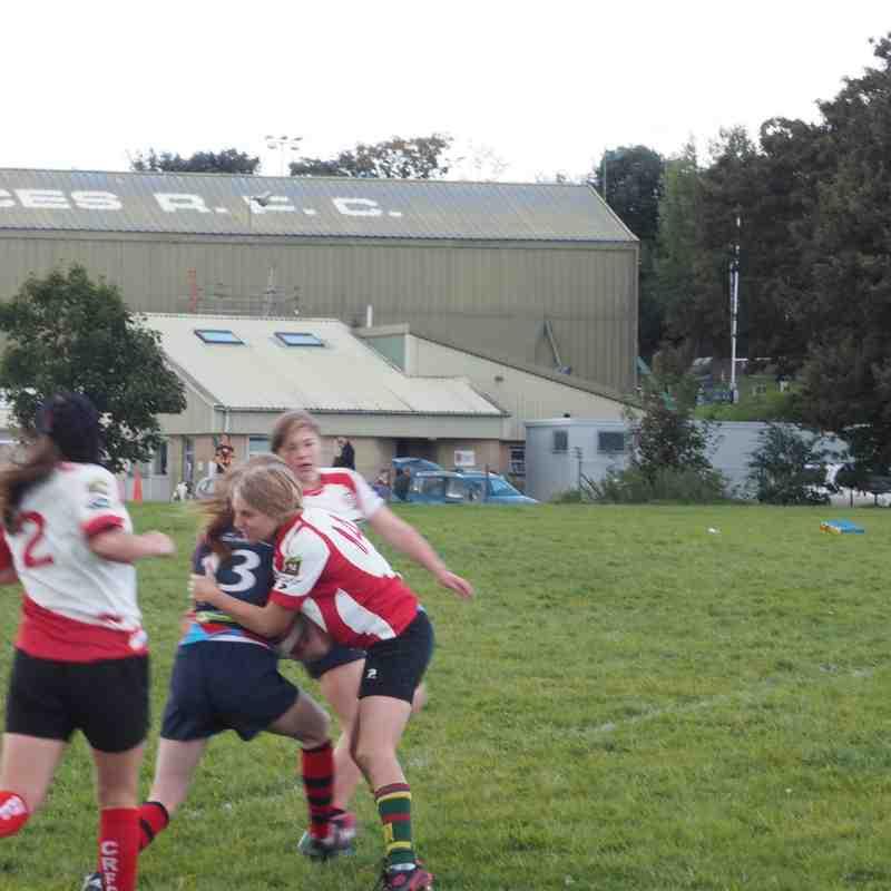 Devonport Services Girls U18s with  Cambourne/Helston Girls