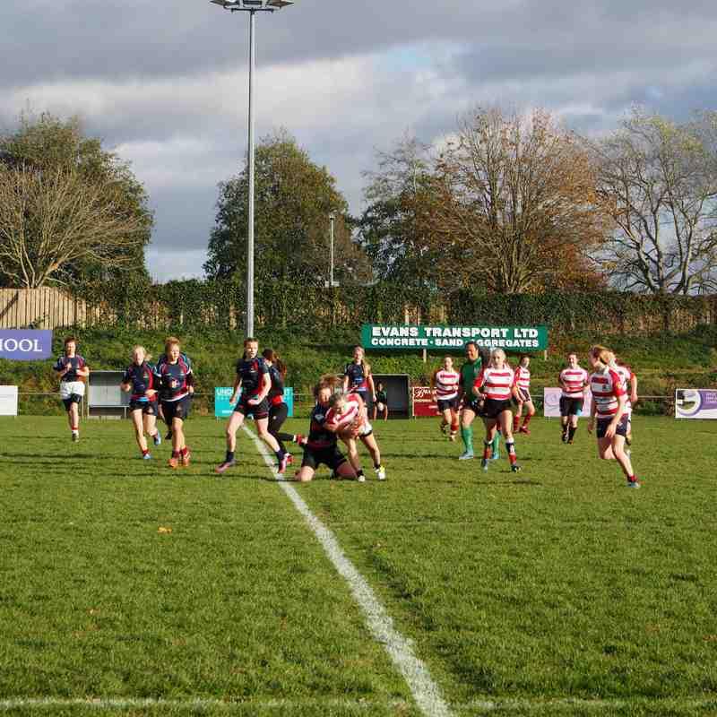 Devonport Services Girls U18s with  Bideford Girls 6-11-16
