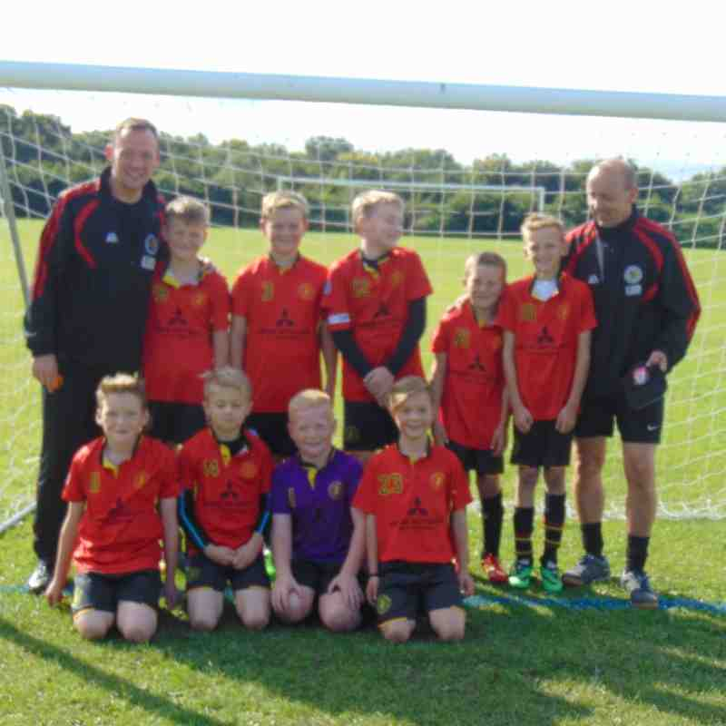 First match of the season for our Under 10s RED