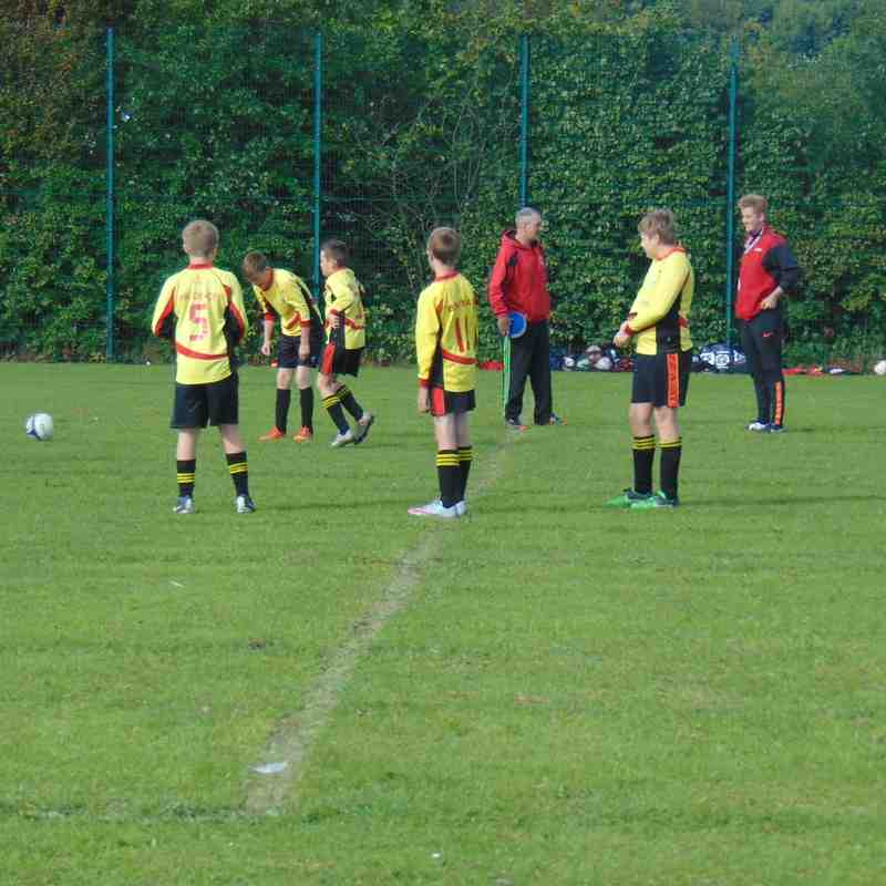 Under 13s kicking off the first game of the season with a 8-2 win!!!
