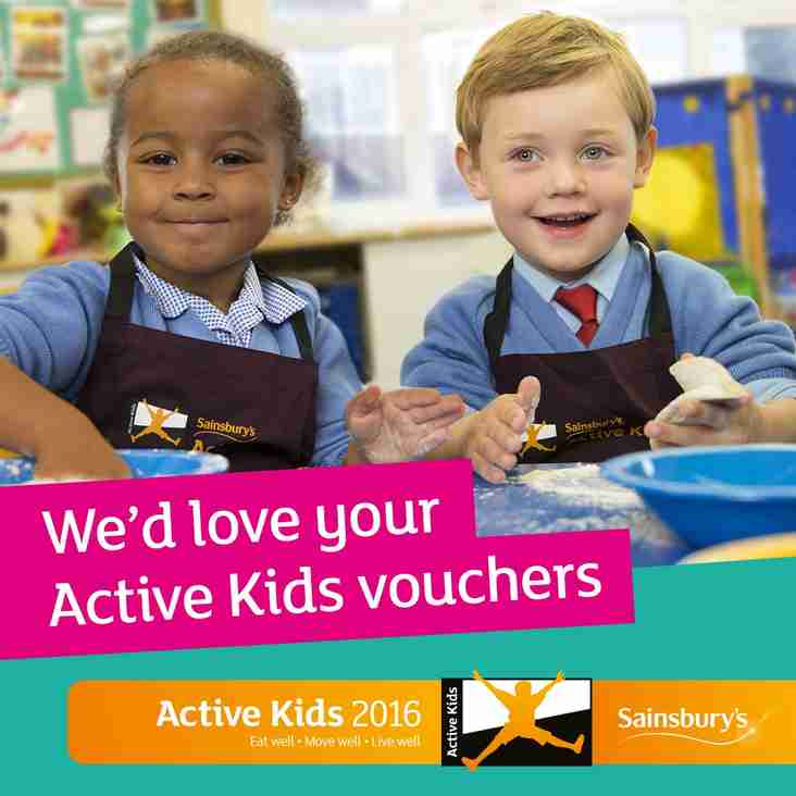 Time to collect in the Sainsbury's Active Kids Vouchers