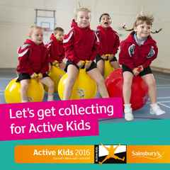 Sainsbury's Active Kids Vouchers January to May 2016