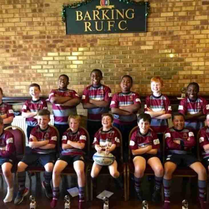 Barking RFC Mini/midi/youth (MMY) section 2015/2016 summary.