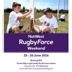 Natwest Rugby Force weekend 25/26th June 2016