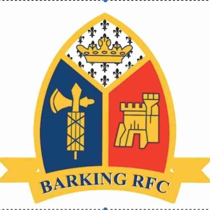 Barking RFC to remain in London 1 North