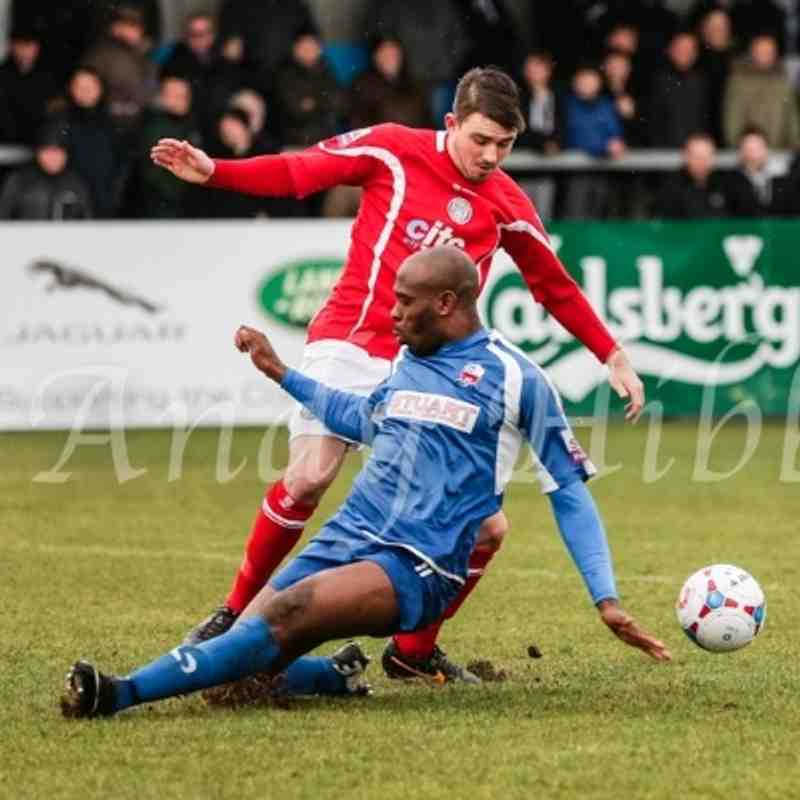 Nuneaton Town 1 - 0 Hyde 15th Feb 2014 by Andy Hibbs