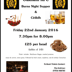 Burns Night 22nd January - lots of fun for all!