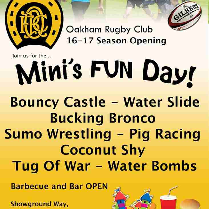 Mini and Junior FUNDAY SUNDAY September 18th