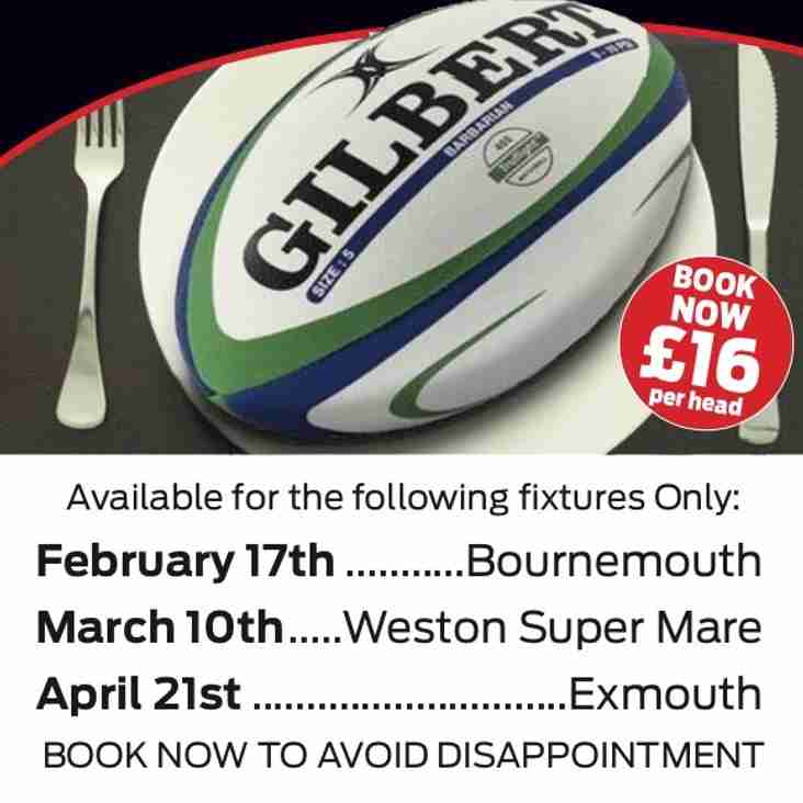 Pre Match Lunches - Dates running out