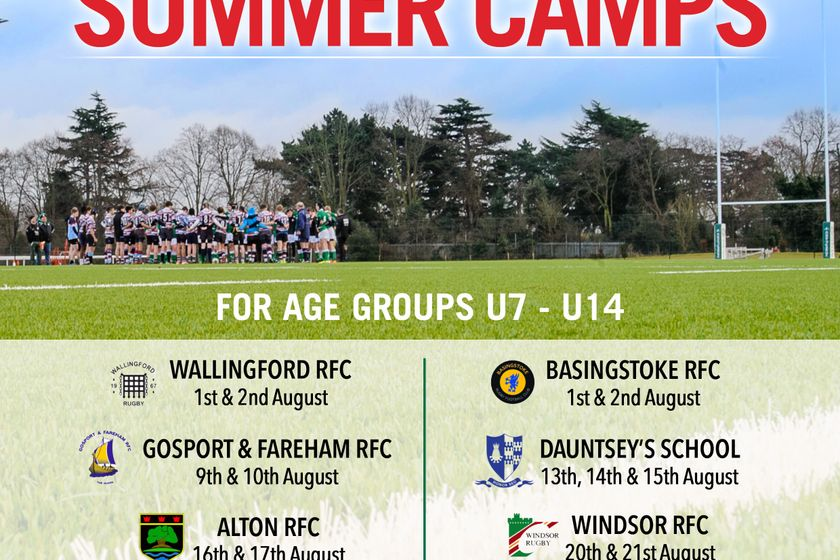 U7-U14 Summer Rugby Camp 9th & 10th August 2018