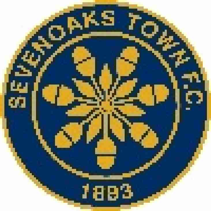 THE EMIRATES FA CUP 1ST QUALIFYING ROUND PAIRS US WITH SEVENOAKS TOWN.