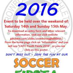 CAFC YOUTH FIESTA 2016 - ENTRY FORMS AVAILABLE.