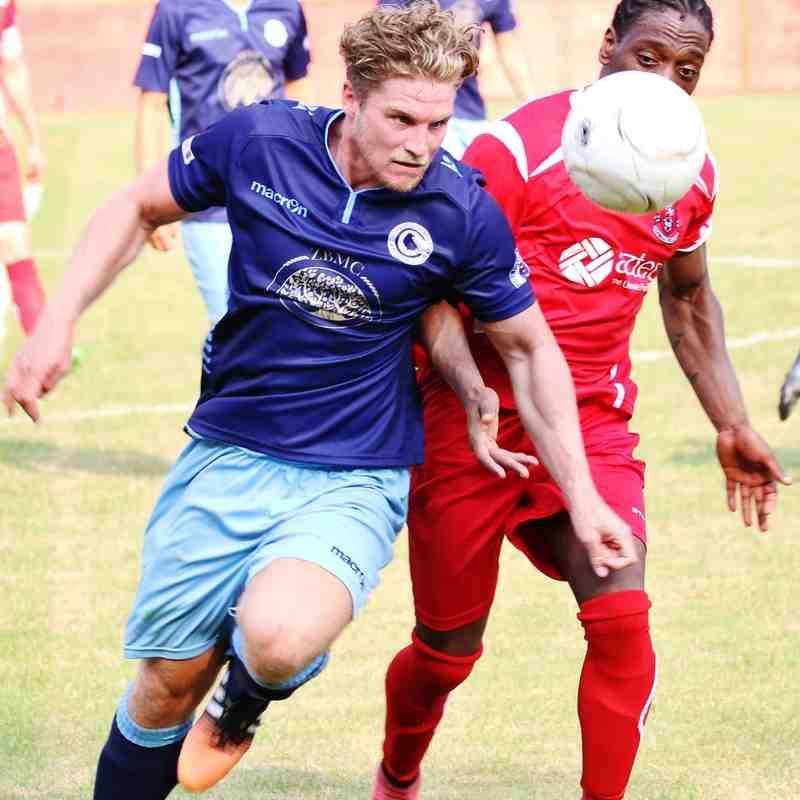 Carrington battles away