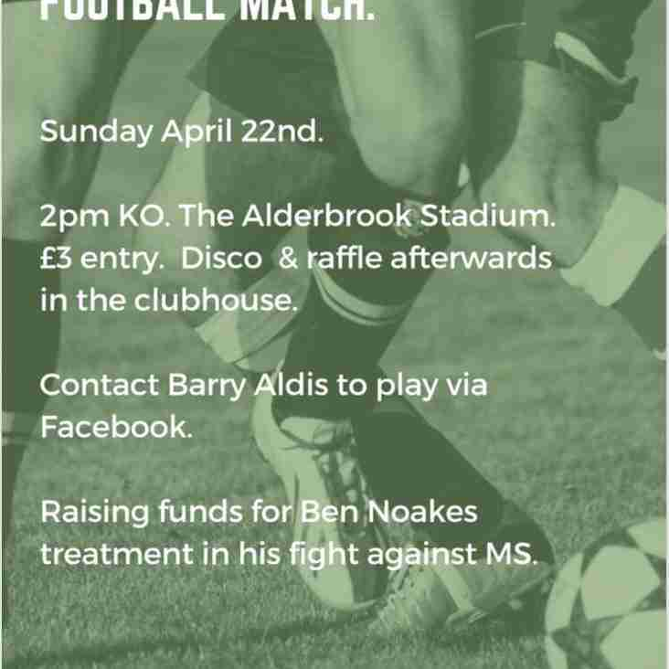 CROWS IN THE COMMUNITY - BEN NOAKES CHARITY FOOTBALL MATCH.