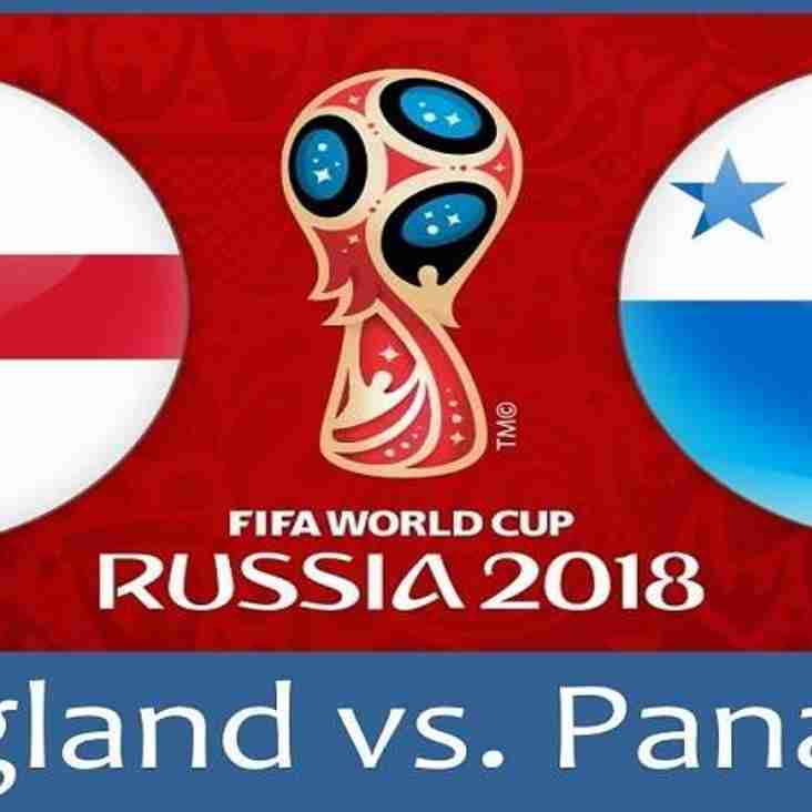 WATCH ENGLAND V PANAMA IN THE CLUBHOUSE.