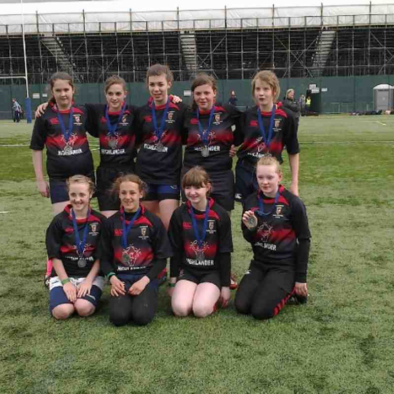 Under 15 Runners Up at Glasgow 7s