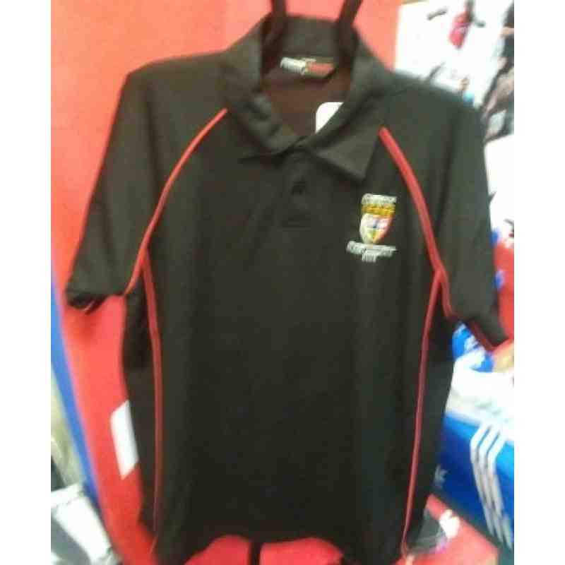 Black Poly poloshirt